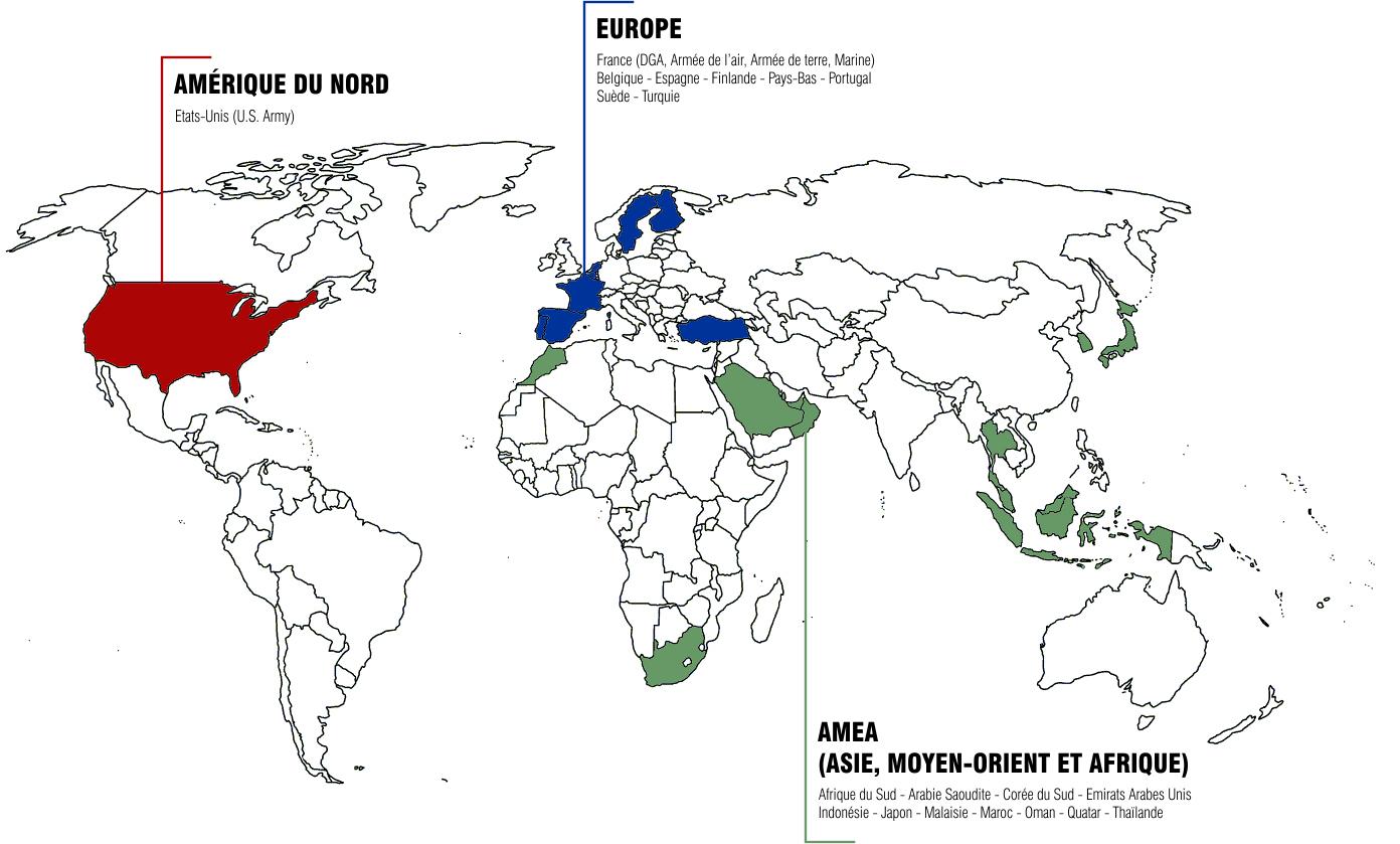 Secapem - Présence mondiale