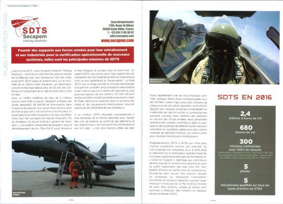 Publireportage SDTS dans le magazine Centenaire BA125 Istres